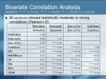 bivariate correlation analysis significance 0 01 0 025 0 05 0 10