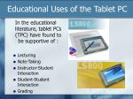 educational uses of the tablet pc