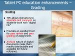 tablet pc education enhancements grading