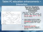 tablet pc education enhancements interaction