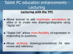 tablet pc education enhancements lecturing