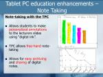tablet pc education enhancements note taking