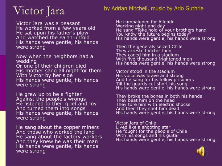 Victor Jara was a peasant