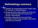 methodology summary