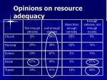 opinions on resource adequacy