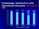 technology satisfaction with operational elements spring 06