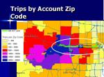 trips by account zip code