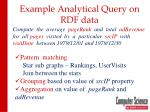 example analytical query on rdf data