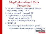mapreduce based data processing