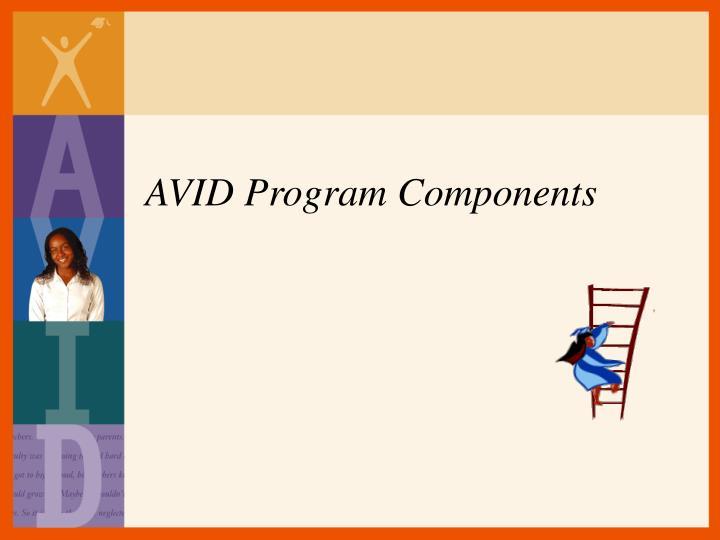 AVID Program Components