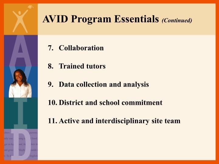 AVID Program Essentials