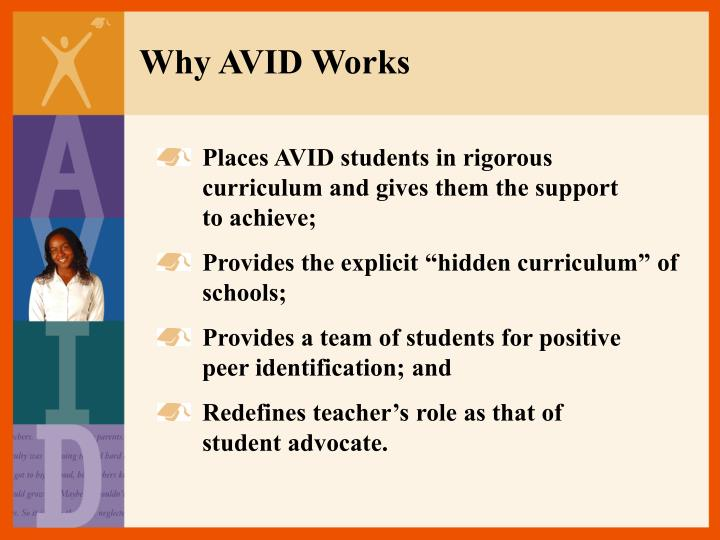 Why AVID Works