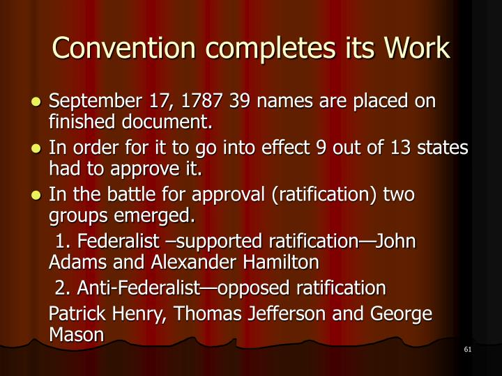 Convention completes its Work