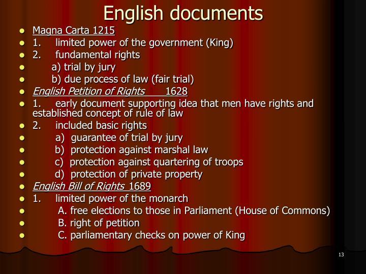 English documents