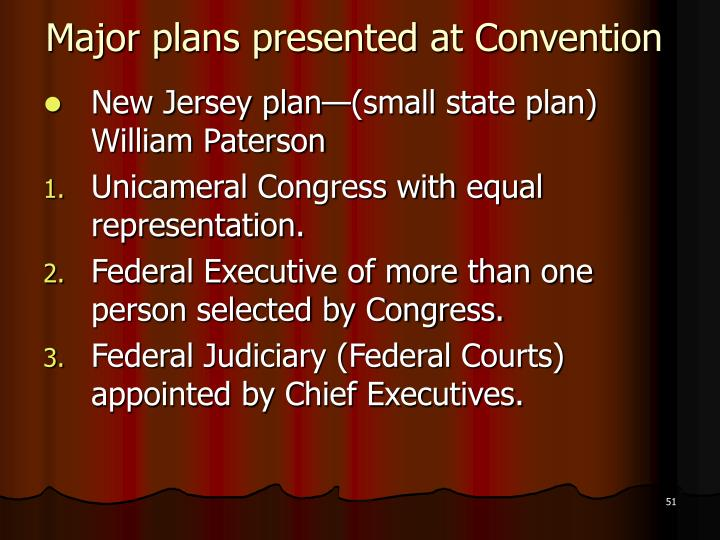 Major plans presented at Convention