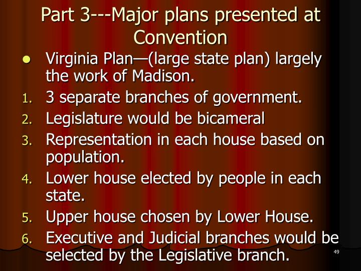 Part 3---Major plans presented at Convention