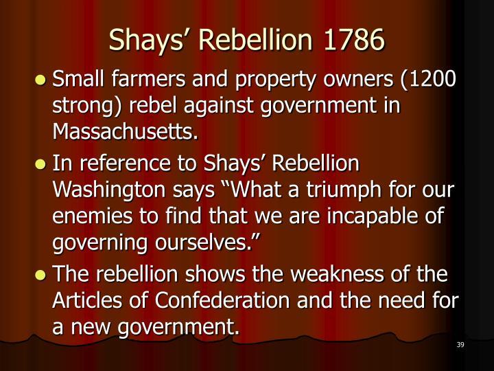 Shays' Rebellion 1786