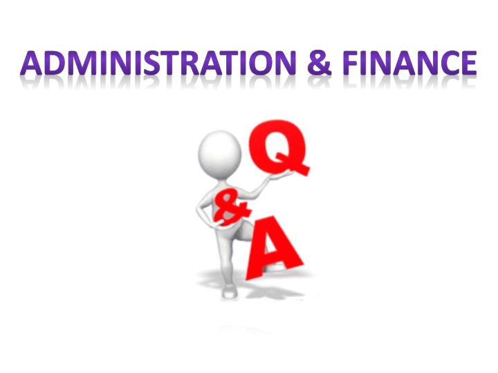 Administration & Finance