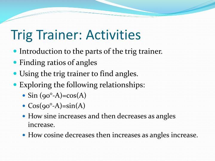 Trig Trainer: Activities