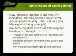 some issues of social science