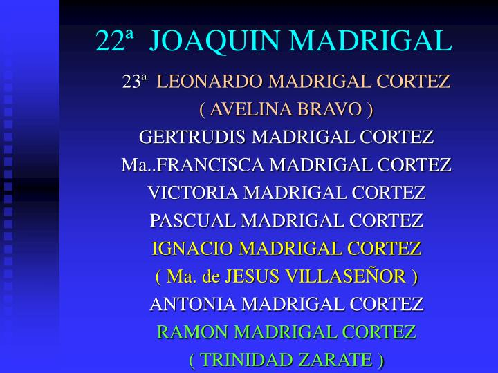 22ª  JOAQUIN MADRIGAL