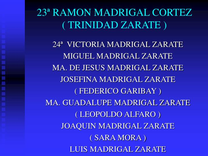 23ª RAMON MADRIGAL CORTEZ