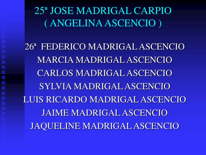 25ª JOSE MADRIGAL CARPIO