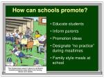 how can schools promote