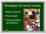 strategies for family meals