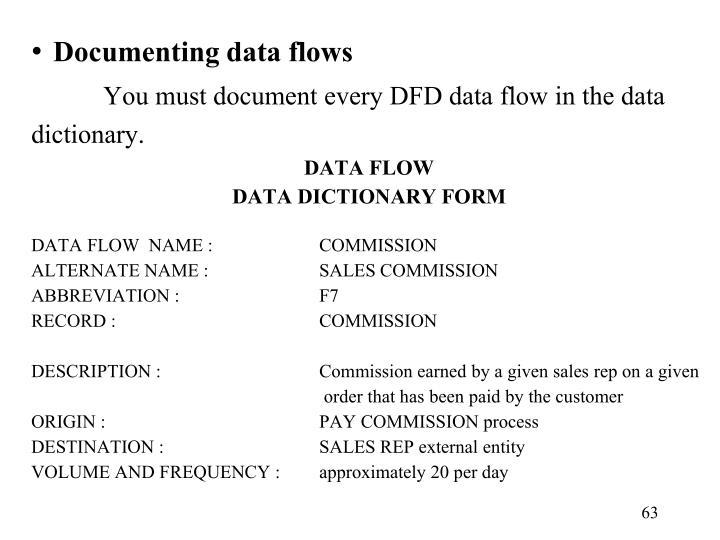 Documenting data flows