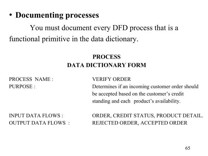 Documenting processes