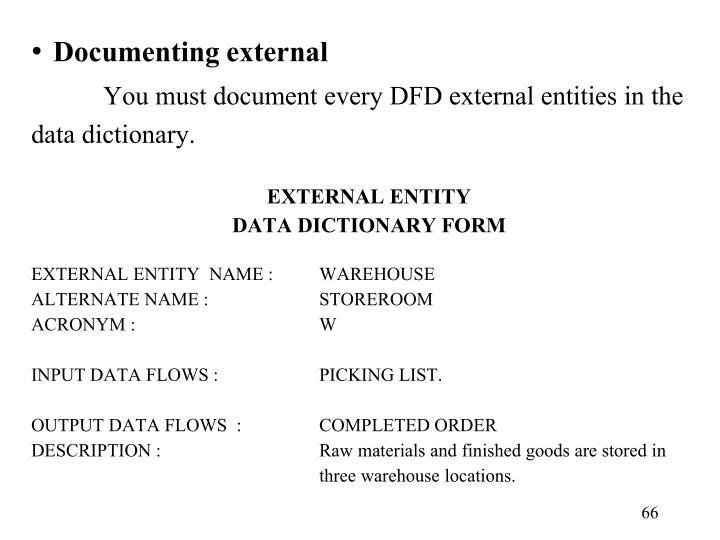 Documenting external