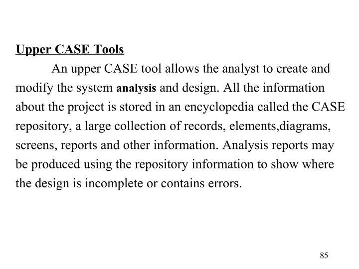 Upper CASE Tools
