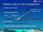 modern tools for risk management