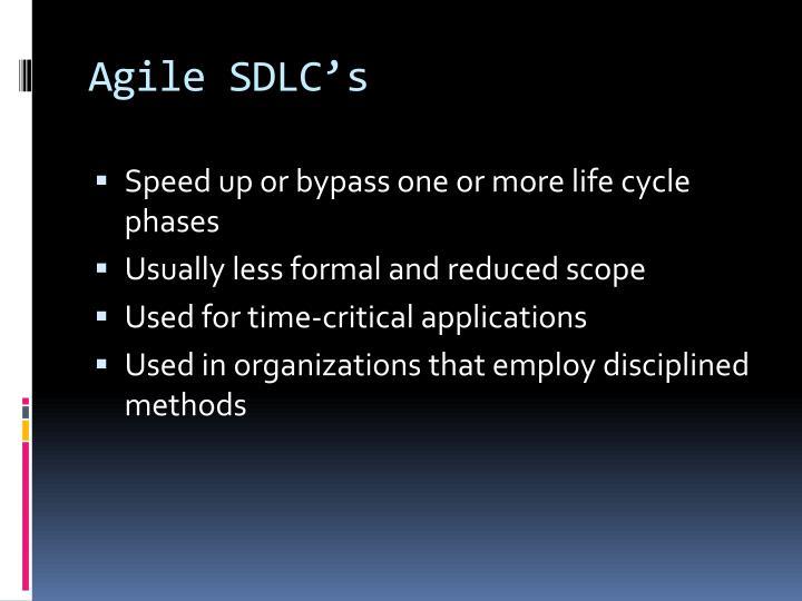 Agile SDLC's