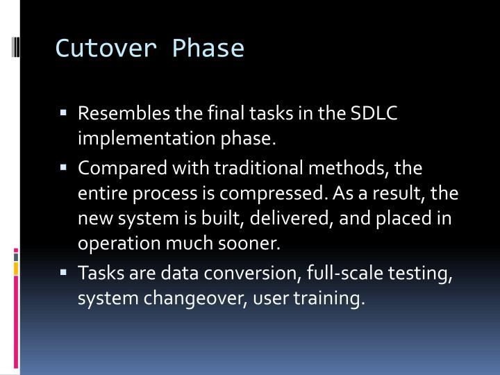 Cutover Phase
