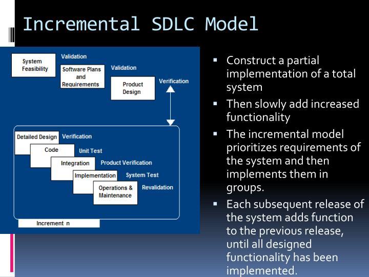 Incremental SDLC Model