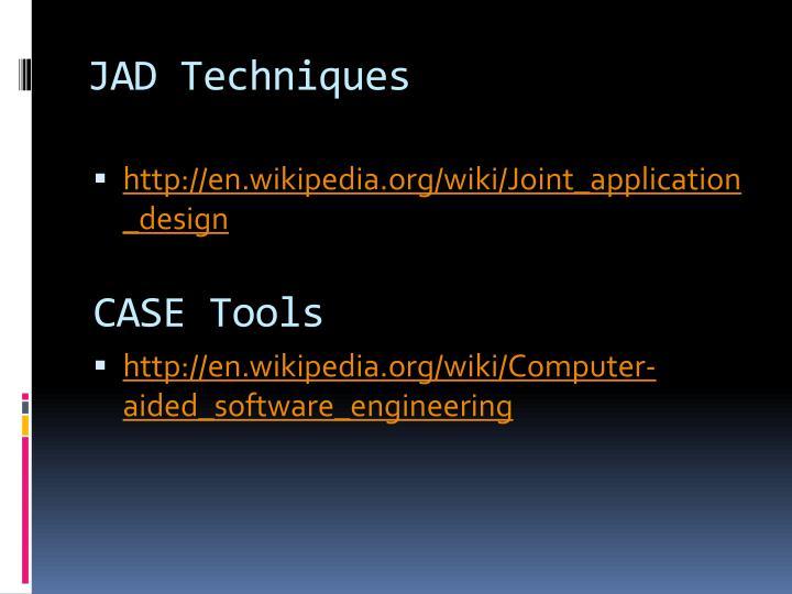 JAD Techniques