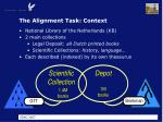 the alignment task context