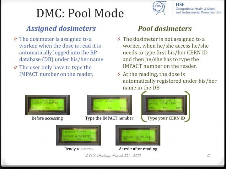 DMC: Pool Mode