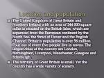 location and population
