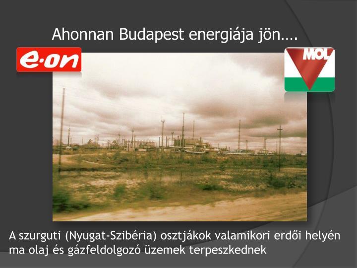 Ahonnan Budapest energiája jön….