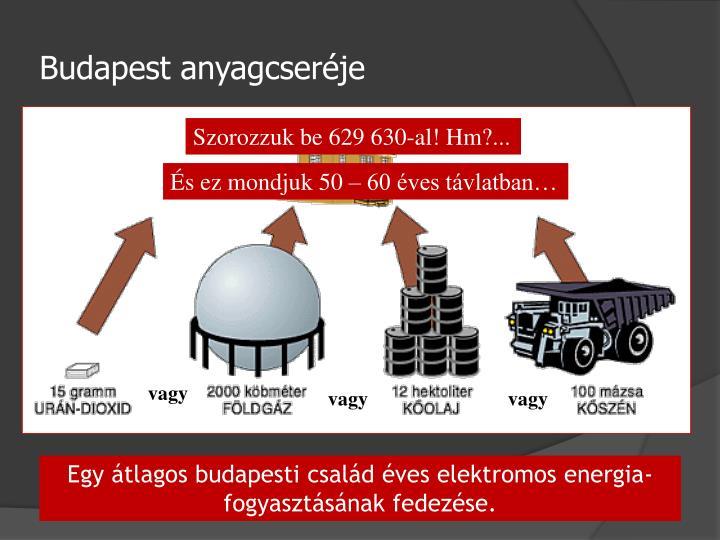 Budapest anyagcseréje