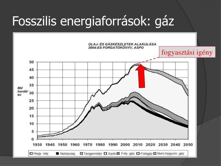 Fosszilis energiaforrások: gáz