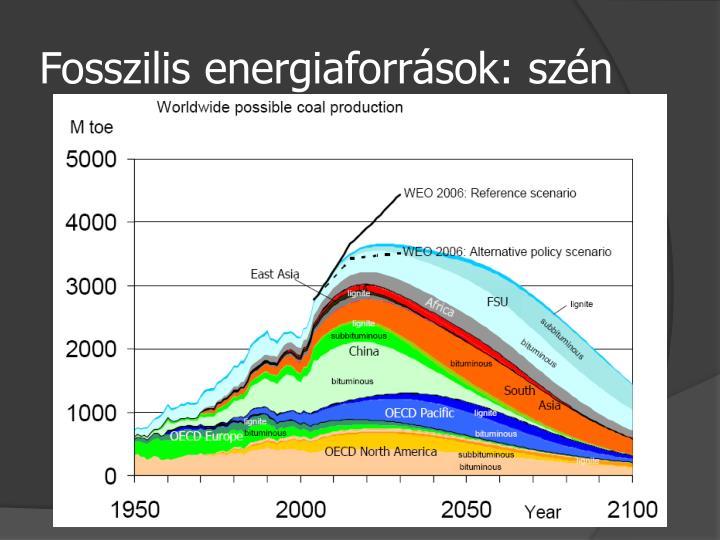 Fosszilis energiaforrások: szén