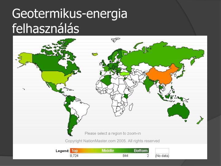 Geotermikus-energia felhasználás