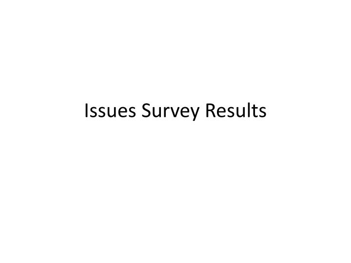 issues survey results n.