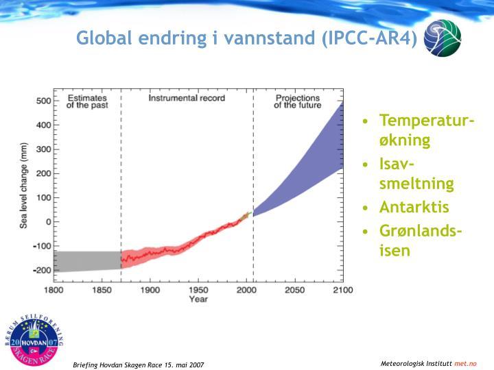 Global endring i vannstand ipcc ar4