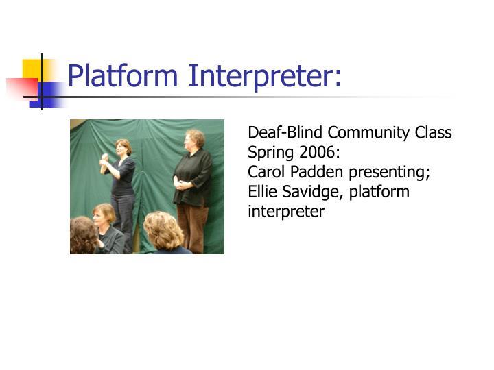 Platform Interpreter: