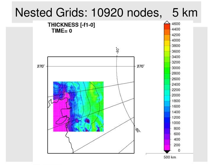 Nested Grids: 10920 nodes,   5 km